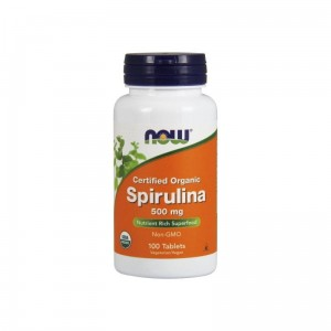 NOW FOODS Spirulina Certified Organic 500mg, 100tabl.